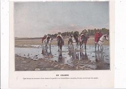 Beau Document Coul. Début XXe Siècle Recto-verso Algérie Chasse à La Gazelle Spahis Vie Au Village Caïd - Altri