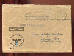"""Deutsches Reich / 1944 / Brief """"Frei Durch Abloesung"""" Ex Staatspolizeistelle Magdeburg, Stempel """"Halberstadt"""" (3331) - Briefe U. Dokumente"""
