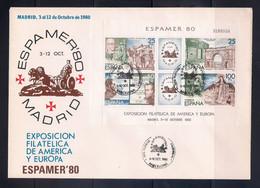 ESPAÑA 1980 - SPD-FDC - ESPAMER 80 EN MADRID- EDIFIL Nº 2583 MATASELLOS BARCELONA - FDC