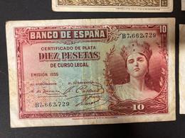 21 X 1937 Banknotes From Spain - Sammlungen