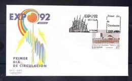 ESPAÑA 1992 - SPD-FDC - EXPO-92- EDIFIL Nº 3155 - FDC