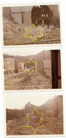 DROME...ROMANS... * DEMOLITION DES HALLES *   LOT DE 3 PHOTOS ....12.5 X 9.CM... - Places