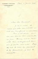 LETTRE CUIRASSE D'ESCADRE CONDORCET - Documents