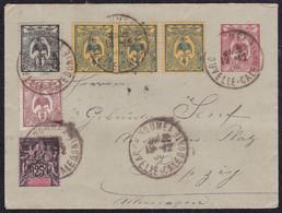 Nouvelle Caledoine, Entier / Stationary Envelope, Uprated, Sent From Noumea To Leipzig, 1900 - Otros