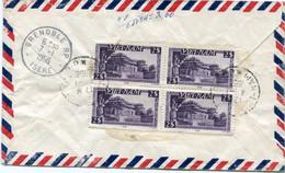 VIET-NAM LETTRE RECOMMANDEE PAR AVION AVEC AFFRANCHISSEMENT AU DOS DEPART SAIGON 4-1-1956 VIET-NAM POUR LA FRANCE - Vietnam