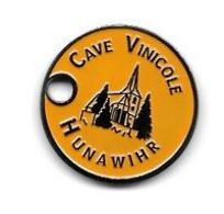 Jeton De Caddie  Ville, Boisson  CAVE  VINICOLE  HUNAWIHR  Recto  Verso  ( 68 ) - Einkaufswagen-Chips (EKW)