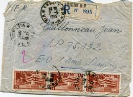 VIET-NAM LETTRE RECOMMANDEE DEPART SAIGON 7-5-1955 VIET-NAM POUR LE VIET-NAM - Vietnam