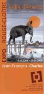 Programme CHARLES Jean François Expo Rouge Cloitre 2008 (India Dreams...) - Non Classificati