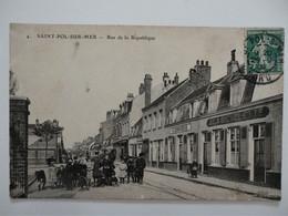 CPA 62 SAINT-POL-SUR-MER - Rue De La République - 1909 - Other Municipalities