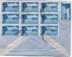 VIET-NAM LETTRE RECOMMANDEE PAR AVION AVEC AFFRANCHISSEMENT AU DOS DEPART SAIGON 10-1-1952 SUD VIET-NAM POUR LA FRANCE - Vietnam