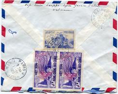 VIET-NAM LETTRE RECOMMANDEE PAR AVION AVEC AFFRANCHISSEMENT AU DOS DEPART DALAT 25-11-1955 VIET-NAM POUR LA FRANCE - Vietnam