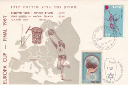 EUROPA CUP, FINAL 1967. IGNIS VERAZA - MACABI TEL-AVIV. BASKETBALL BALONCESTO. ISRAEL SPC 13.4.1967.- LILHU - Basketball
