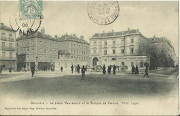 CPA De GRENOBLE - La Place Vaucanson Et La Banque De France. - Grenoble