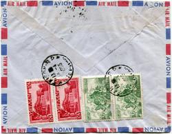 VIET-NAM LETTRE RECOMMANDEE PAR AVION AVEC AFFRANCHISSEMENT AU DOS DEPART SAIGON 16-4-1955 VIET-NAM POUR LA FRANCE - Vietnam