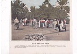 Beau Document Coul. Début XXe Siècle Recto-verso Algérie Spahis Reconnaissance, Halte Dans Une Oasis - Altri
