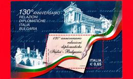 ITALIA - Usato - 2009 - 130º Anniversario Delle Relazioni Diplomatiche Tra Italia E Bulgaria - BF - Lettera - 0,65 - Blocs-feuillets