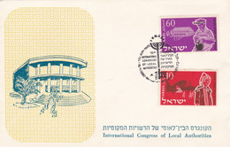 INTERNATIONAL CONGRESS OF LOCAL AUTHORITIES, CONGRES INTERNATIONAL DES POUVOIRS LOCAUX. ISRAEL SPC 15.11.1960.- LILHU - Other