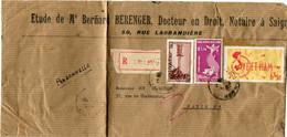 VIET-NAM LETTRE RECOMMANDEE DEPART SAIGON 5-5-1954 VIET-NAM POUR LA FRANCE - Vietnam