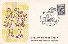 THE MARCH FROM ESHTAOL TO JERUSALEM. ISRAEL SPC 22.3.1961.- LILHU - Covers & Documents
