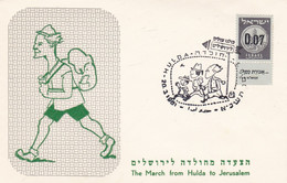 THE MARCH FROM HULDA TO JERUSALEM. ISRAEL SPC 20.3.1961.- LILHU - Covers & Documents