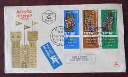 Fdc Env. Israel 1960 Par Avion Vers Grand Rapids Michigan USA - FDC