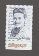 FRANCE / 2021 / Y&T N° 5474 ** : Simone De Beauvoir X 1 BdF Bas - Unused Stamps