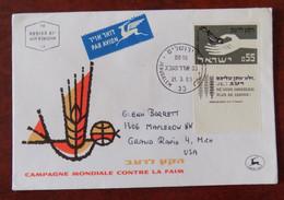 Fdc Env. Israel 1963 Vers Grand Rapids Michigan USA - - FDC