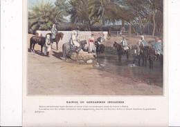 Beau Document Coul. Début XXe Siècle Recto-verso Algérie Dairos (gendarmes Indigènes), Gourbi Arabe - Altri