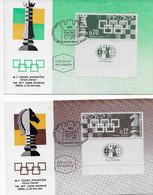 ISRAEL 1964 - CHESS OLYMPIAD Olympics FDC On 2 Postcards - Non Classés