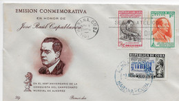 Cuba 1951; Ajedrez Chess Capablanca On FDC - Covers & Documents