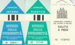 3 BIGLIETTI ENTRATA MUSEI/LUOGHI STORICI (MF823 - Tickets - Vouchers