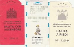 3 BIGLIETTI ENTRATA MUSEI/LUOGHI STORICI (MF824 - Tickets - Vouchers