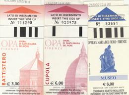 3 BIGLIETTI ENTRATA MUSEI/LUOGHI STORICI (MF825 - Tickets - Vouchers