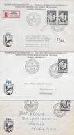 Finland, Fdc 10.8.1952 . 3x ! Eches, Chess, Schach Federation Of Finland 1x Registered + 2x Used - Briefe U. Dokumente