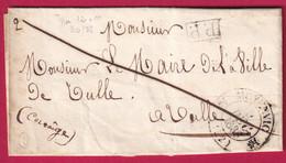 CAD TYPE 12 MOYENVIC MEURTHE ET MOSELLE PP NOIR TEXTE DE MASOL 1838 SYMBOLE FRANC MACON ??? POUR TULLE CORREZE - 1801-1848: Voorlopers XIX