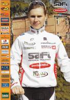 CARTE CICLISME WOMEN'S AUSRINE TREBAITE TEAM SAFI 2010 - Wielrennen