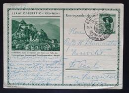 Österreich 1954, Bildpostkarte Kufstein BAD HOFGASTEIN Sonderstempel - 1945-60 Cartas