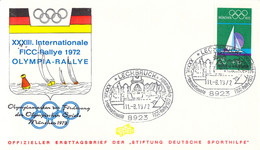 Germany Cover 1972 München Olympic Games - XXXIII Intl. FICC Rallye 1972 Olympia-Rally Posted Lechbruck 1972 - Ete 1972: Munich