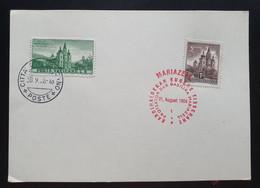 Österreich 1958, Blanko Postkarte Sonderstempel MARIAZELL + CITTA VATICANO - 1945-60 Cartas