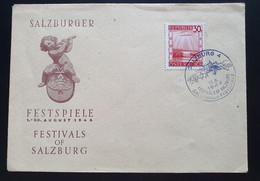 Österreich 1946, Festumschlag SALZBURGER FESTSPIELE Sonderstempel - 1945-60 Cartas