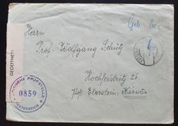 Österreich 1946, ZENSUR Brief ROTTENMANN Gelaufen Hochfeistritz Kärnten - Gebühr Bezahlt - 1945-60 Cartas