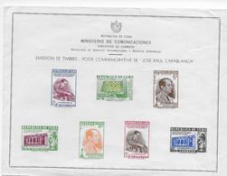 Cuba 1951; Ajedrez Chess Ministerio De Comunicaciones (4) French Language - Covers & Documents