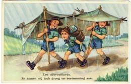Scoutisme. Illustrateur. Scouts Sous La Pluie. Les Débrouillards. - Scouting