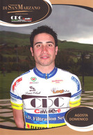 CARTE CICLISME DOMENICO AGOSTA TEAM CAVALIERI - SAN MARZANO 2010 - Wielrennen