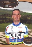 CARTE CICLISME DANILO ANDRENACCI TEAM CAVALIERI - SAN MARZANO 2010 - Wielrennen