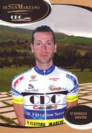 CARTE CICLISME DAVIDE D'ANGELO TEAM CAVALIERI - SAN MARZANO 2010 - Wielrennen