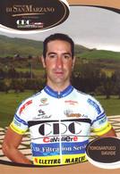 CARTE CICLISME DAVIDE TOROSANTUCCI TEAM CAVALIERI - SAN MARZANO 2010 - Wielrennen