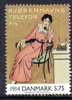 DENMARK - 2000 20th CENTURY TELEPHONE ADVERTISING POSTER STAMP FINE MNH ** SG 1190 - Ongebruikt