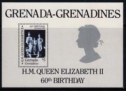 Granada - Grenadines 1986 Mini Sheet Issued To Celebrate Queen Elizabeths 60th Birthday In Unmounted Mint. - Grenada (1974-...)