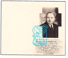 DP Foto Schepen Voorz. Muziek Stichter CVP Hector Vandevelde ° Oudenaarde 1889 † Leupegem X De Meester / Lison Librecht - Santini